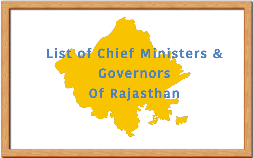 List of Chief Ministers and Governors