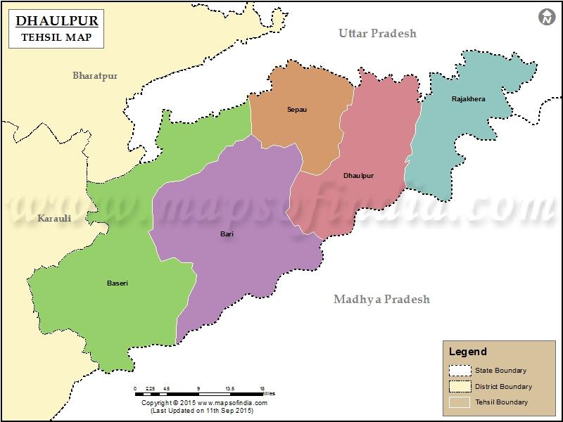dhaulpur-tehsil-map