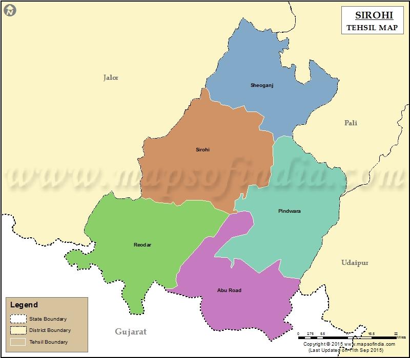 sirohi-tehsil-map