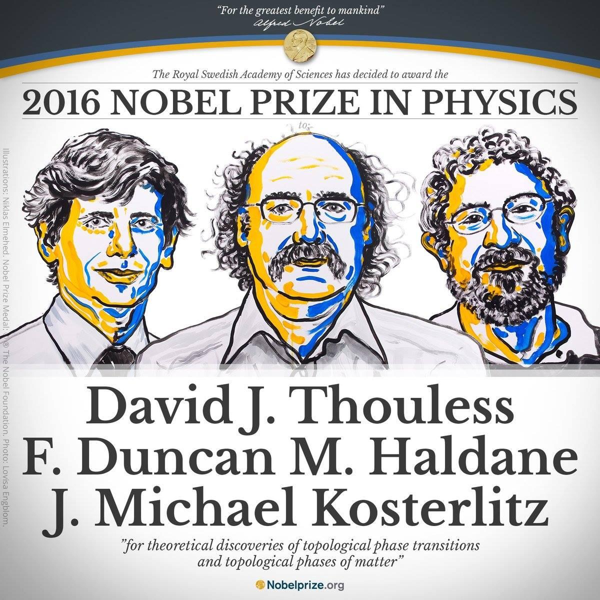 Physics Nobel 2016: David Thouless, F Duncan M Haldane and Michael Kosterlitz winners