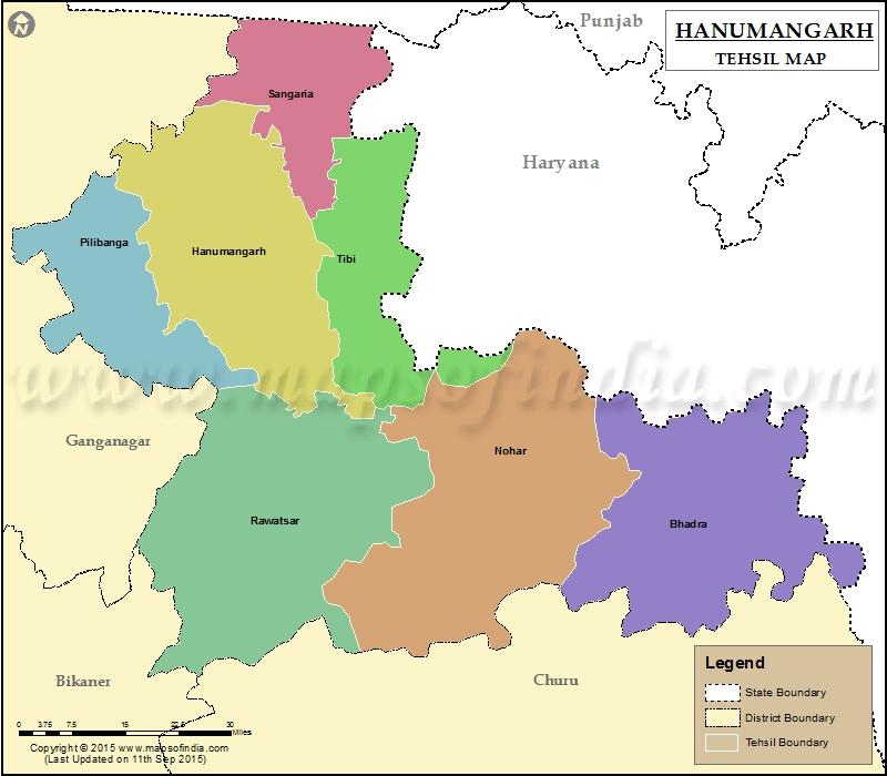 hanumangarh-tehsil-map