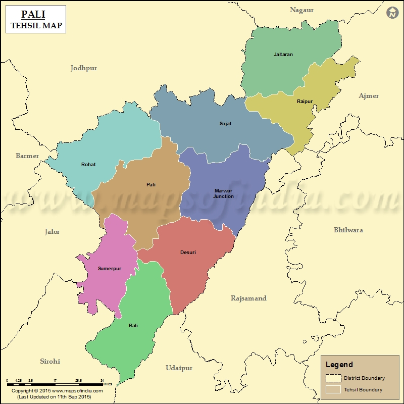 Imagesource: MapsofIndia Tehsil of Rani not shown in map