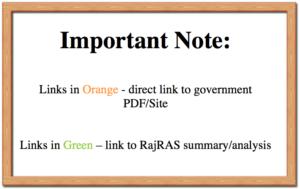 Rajasthan Policy & Scheme PDF