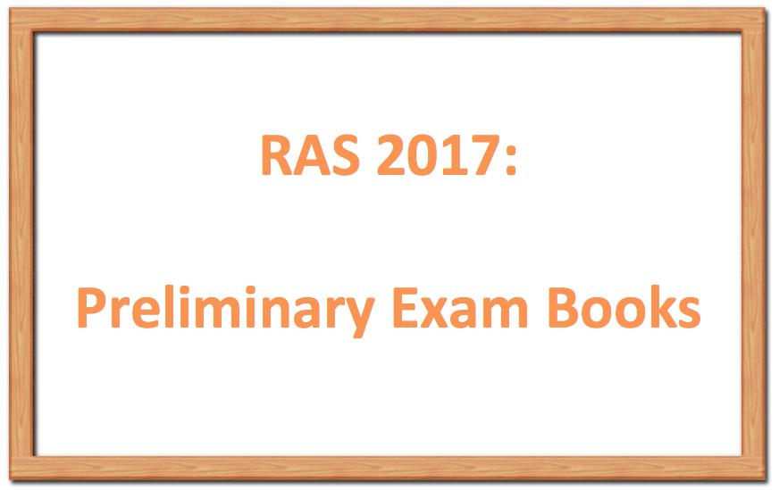 RAS 2017 Books, RAS Prelims Books