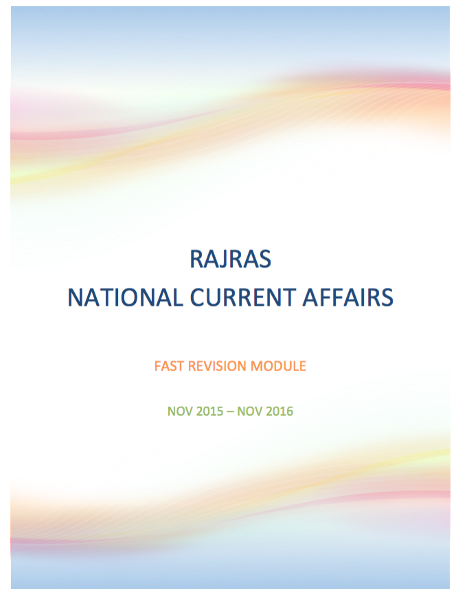 National Current Affairs Nov-2015 : Nov-2016 Image