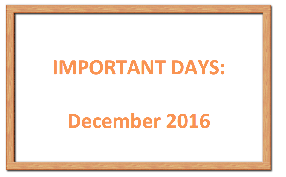 Important days december