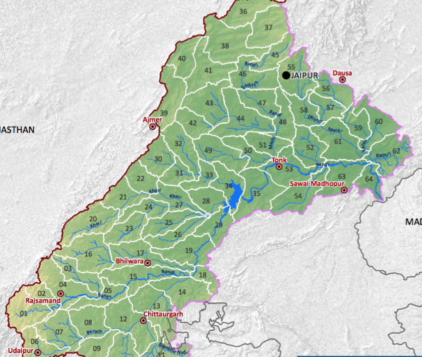 Banas RIver and its Tibutaries