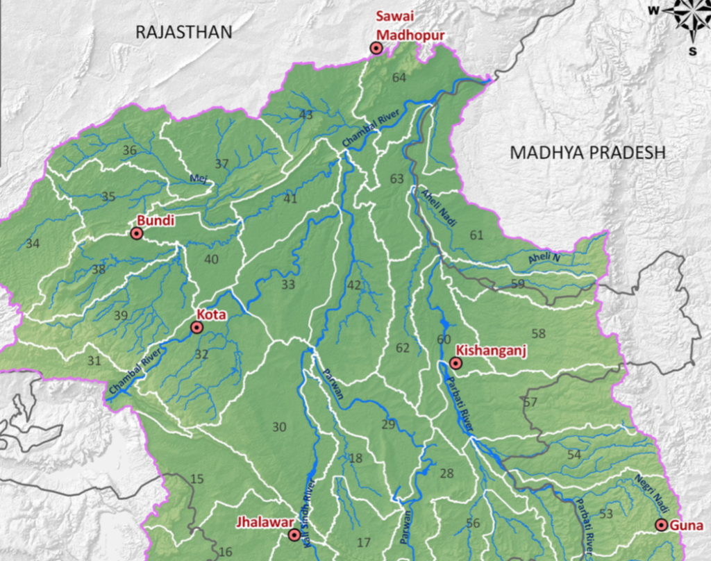 Chambal River basins Dams, ERCP