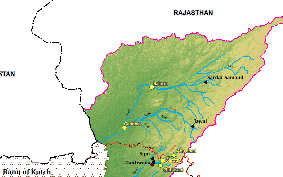 luni river origin tributaries basin dams and concerns rajras in rh rajras in