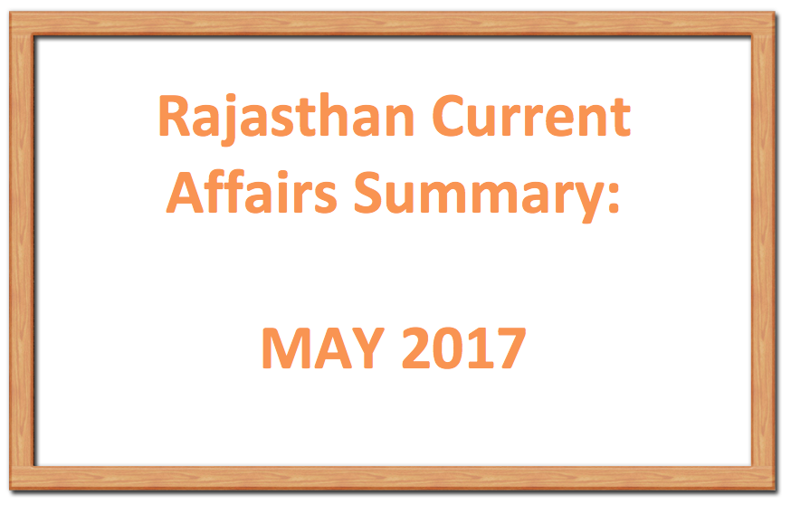 Rajasthan Current Affairs: May Week 2