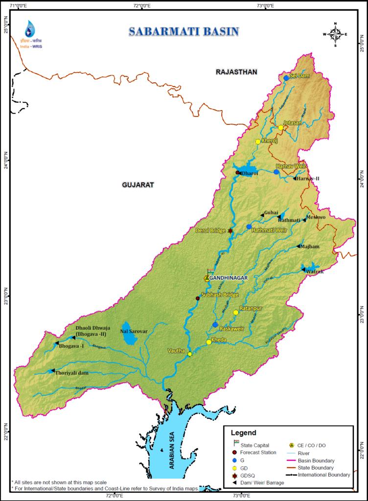 Sabarmati River Basin Map