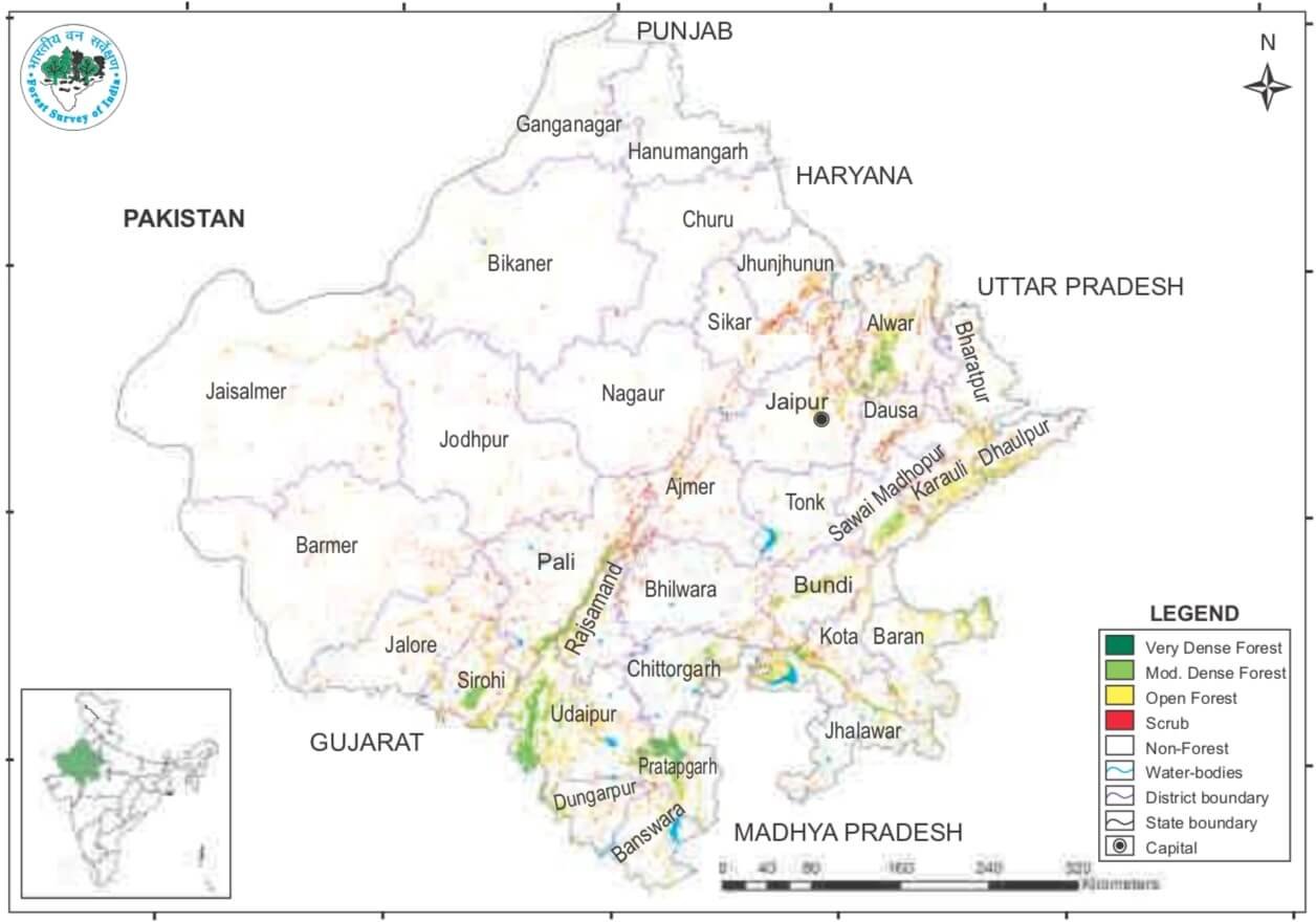 Classification of Forest of Rajasthan – ISFR 2019