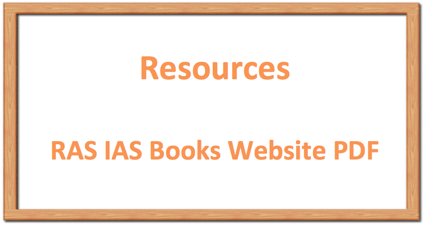 Important Books RAS IAS Books Website PDF Resources
