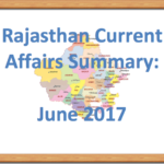 Rajasthan Current Affairs Summary June 2017