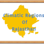 Classification of climatic regions of Rajasthan