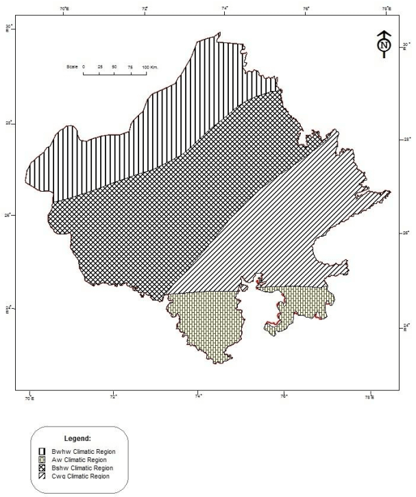 Classification of climatic regions of Rajasthan by Koppen (1)