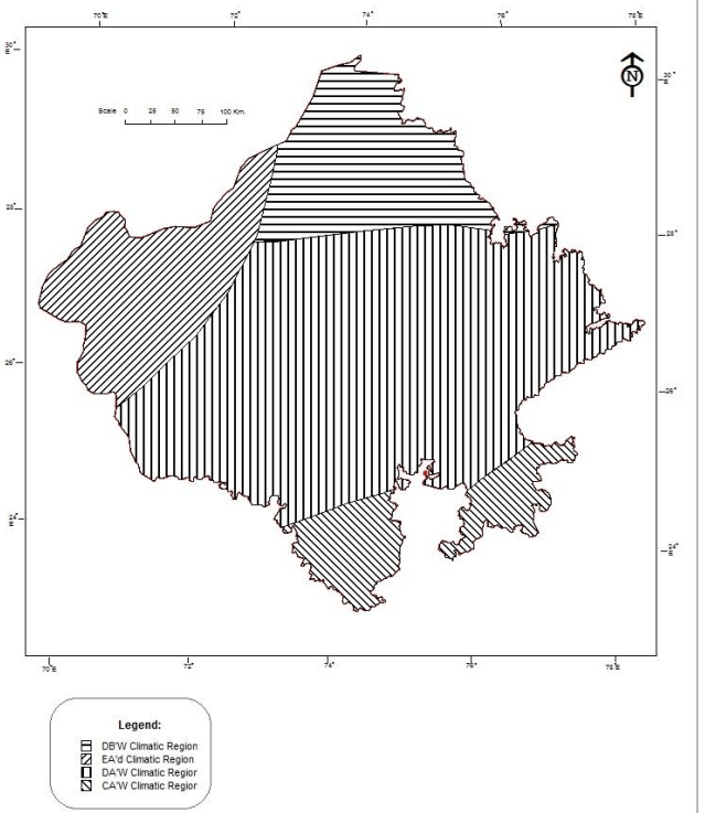 Classification of climatic regions of Rajasthan by Thornthwaite (1)
