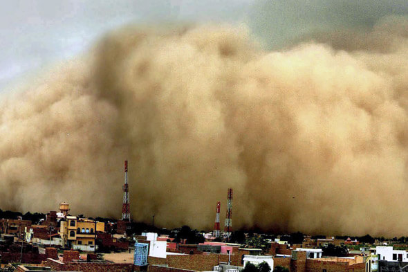 Wind Regime Velocity Dust Thunder Storms in Rajasthan