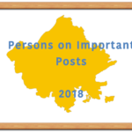 Persons on Important posts 2018