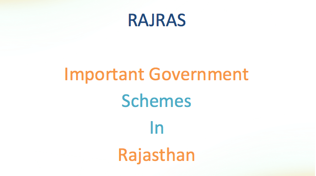 Important Government Schemes Rajasthan PDF