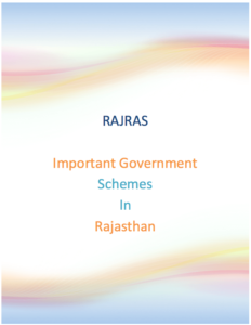 Important Government Schemes in Rajasthan PDF