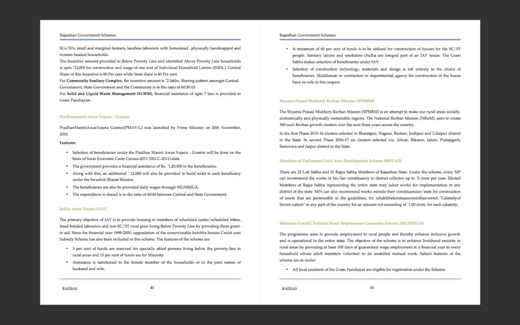 Government Schemes Rajasthan PDF