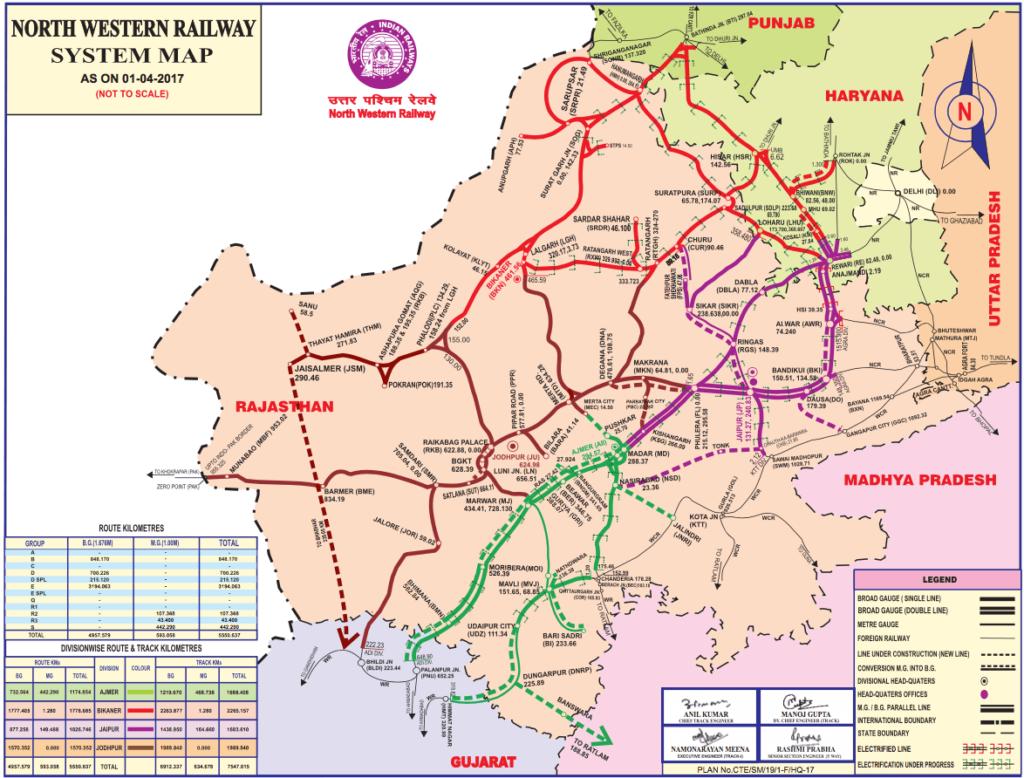 Rajasthan Railway Map Railway Network of Rajasthan | RajRAS   Rajasthan RAS