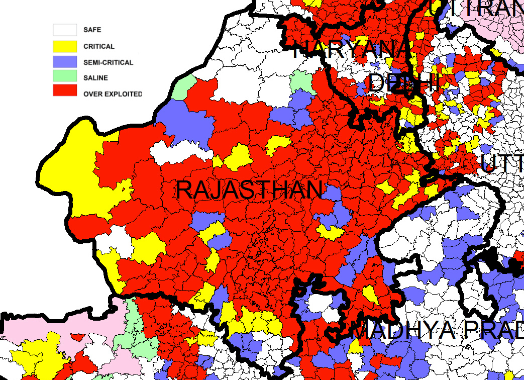 Ground Water Status Rajasthan