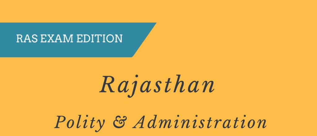 Rajasthan Polity and Administration PDF