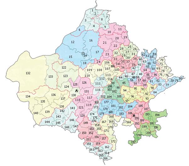 Rajasthan Vidhan Sabha Constituencies