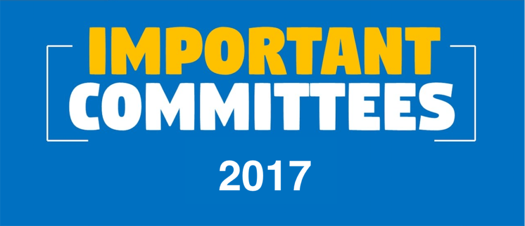 Important Committees, panels and Commissions 2017 - 2018