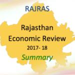 Summary PDF Rajasthan Economic Review RAS 2018