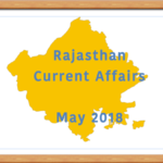 Rajasthan Current Affairs May 2018