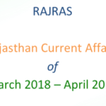 Rajasthan Current Affairs PDF- March-April 2018