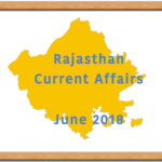 Rajasthan Current Affairs June 2018 RAS
