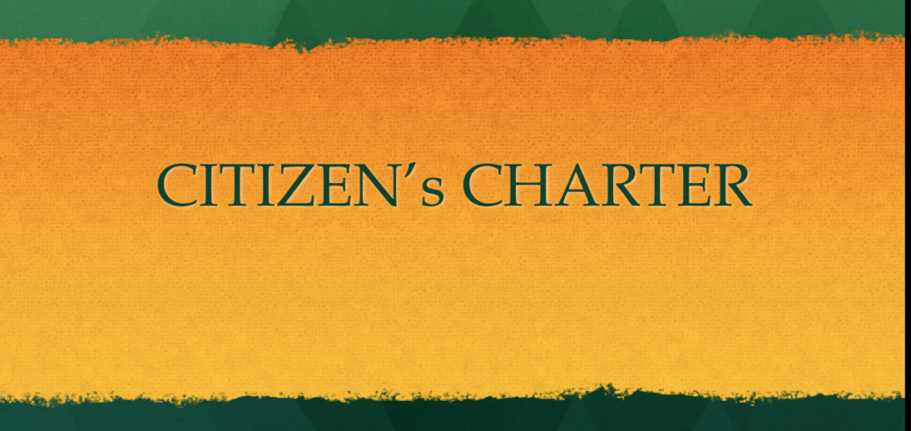 Citizen Charter, Citizen's Charter, 2nd ARC 4th Report, Good Governance