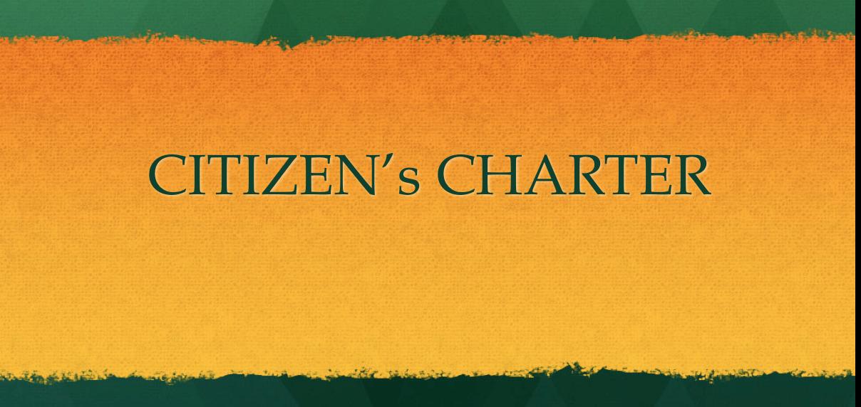 Citizen Charter