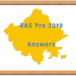 RAS 2018 Pre Answer Key
