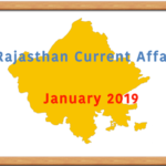 January 2019 Rajasthan Current Affairs Summary