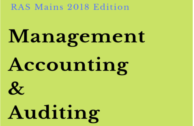 Management-Accounting-Auditing-PDF Book RAS Mains 2018
