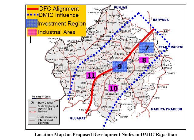 DMIC Rajasthan Investment industrial regions