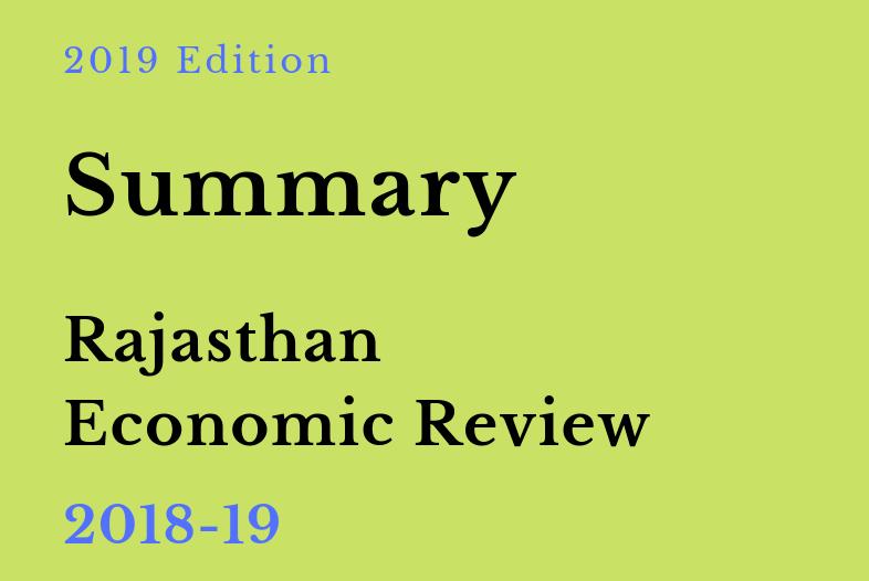 Rajasthan Economic Review 2018-19 Summary PDF by RajRAS
