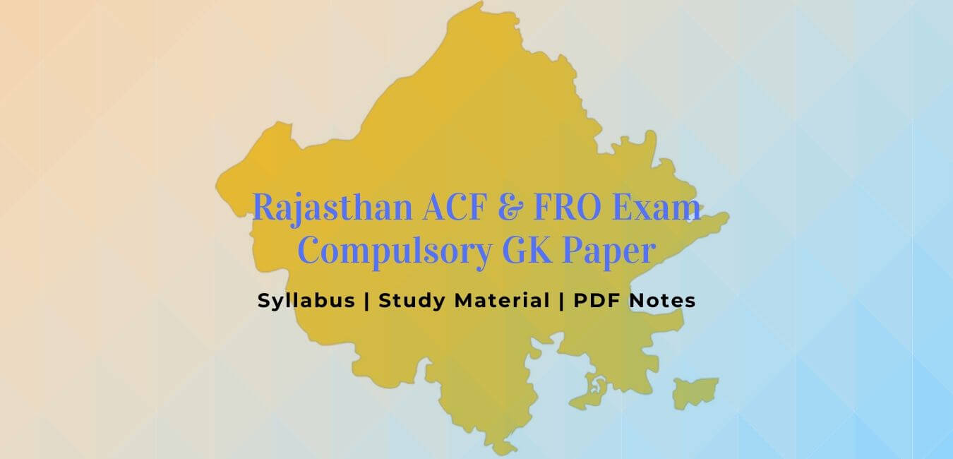 ACF-FRO: GK Paper Syllabus Books Notes