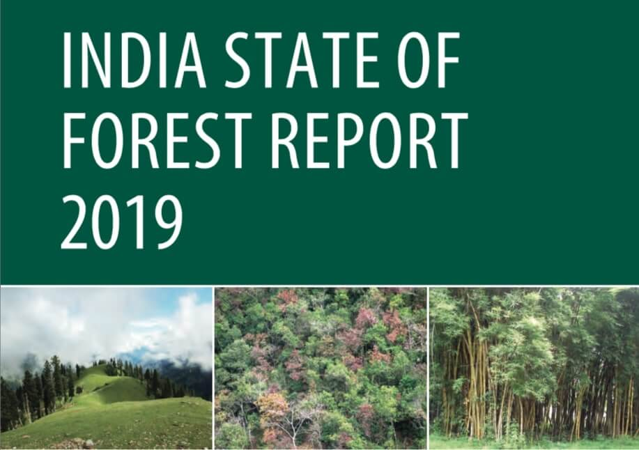 Download India State of Forest Report 2019 IFSR 2019 English PDF