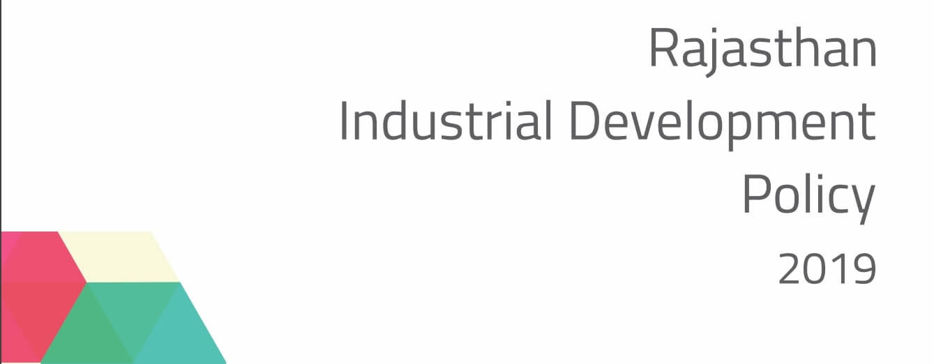 Rajasthan Industrial Development Policy 2019 Download PDF