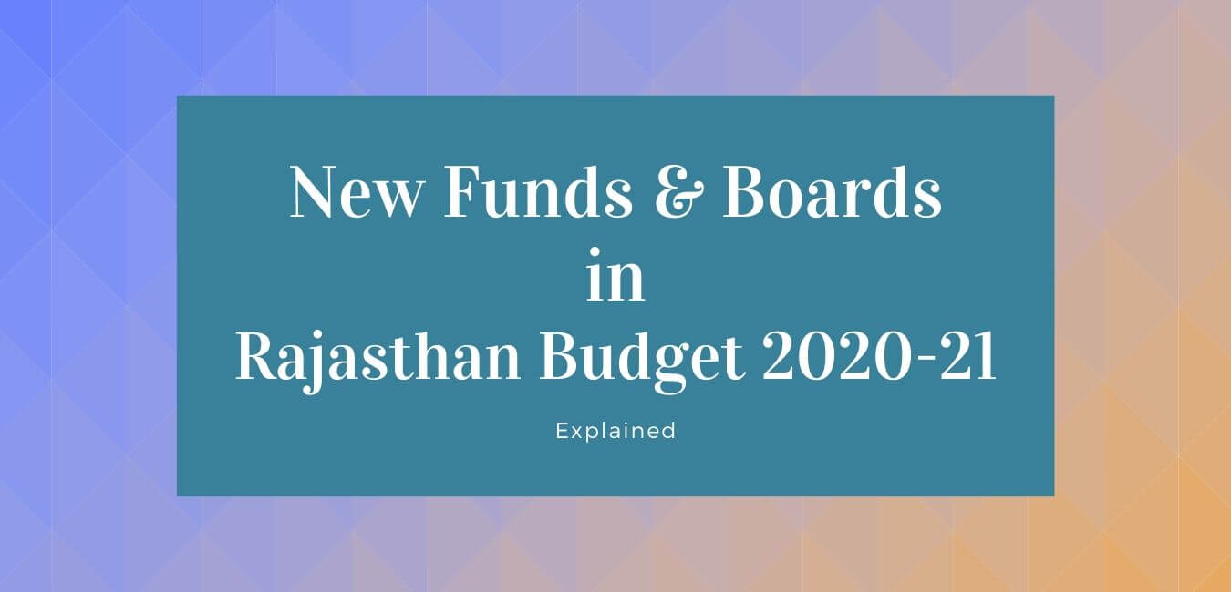 new funds in Rajasthan Budget 2020-21