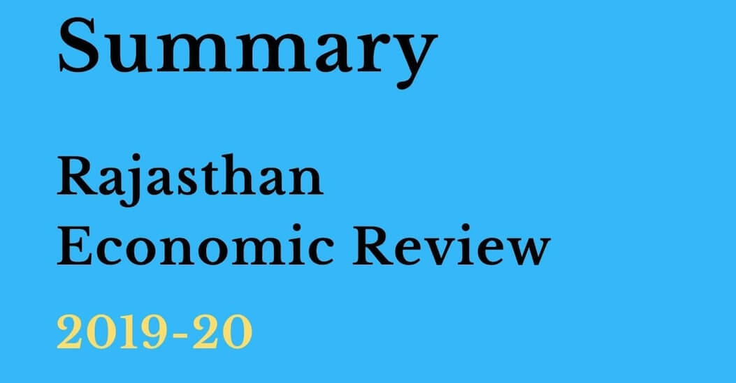 Summary Economic Review of Rajasthan 2019-20