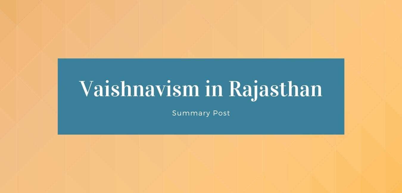 Vaishnavism in Rajasthan