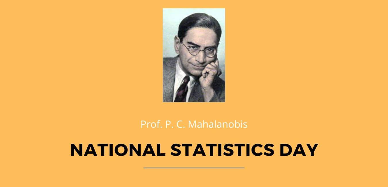 Prof P C Mahalanobis National Statistics Day 2020 | Theme