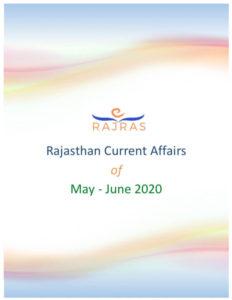 Rajras Rajasthan Current Affairs May June 2020 Summary PDF